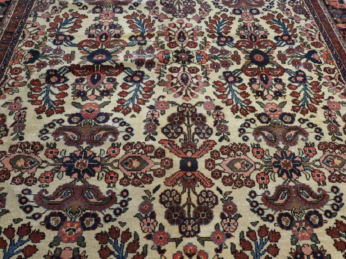 Oriental Persian Ivory Heriz Room Size Carpet Rug - 2