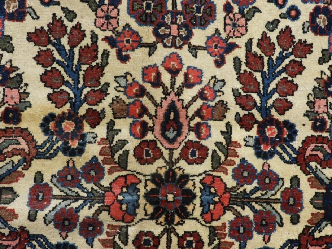 Oriental Persian Ivory Heriz Room Size Carpet Rug - 3