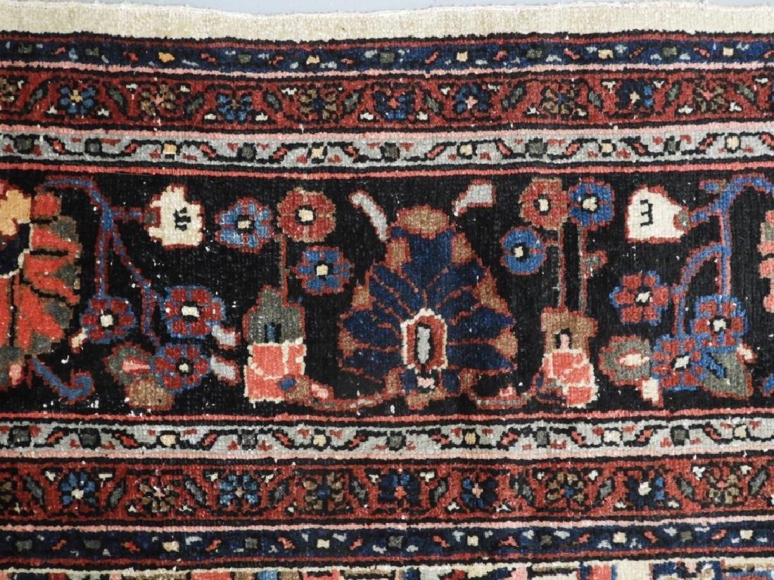 Oriental Persian Ivory Heriz Room Size Carpet Rug - 4