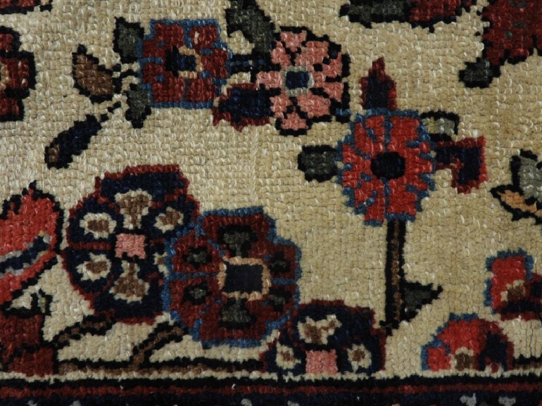 Oriental Persian Ivory Heriz Room Size Carpet Rug - 7