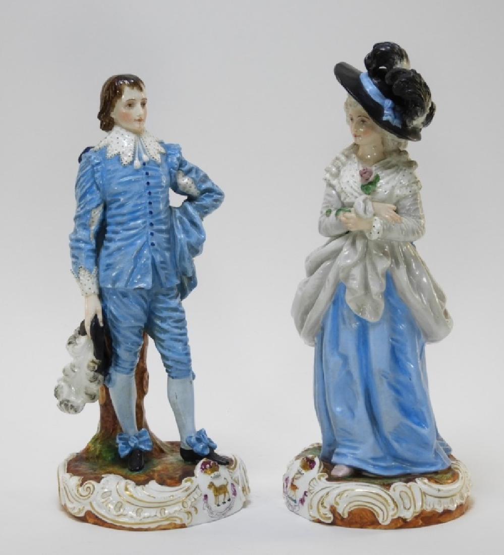 PR Charles Levy Co. Porcelain Male & Female Figure