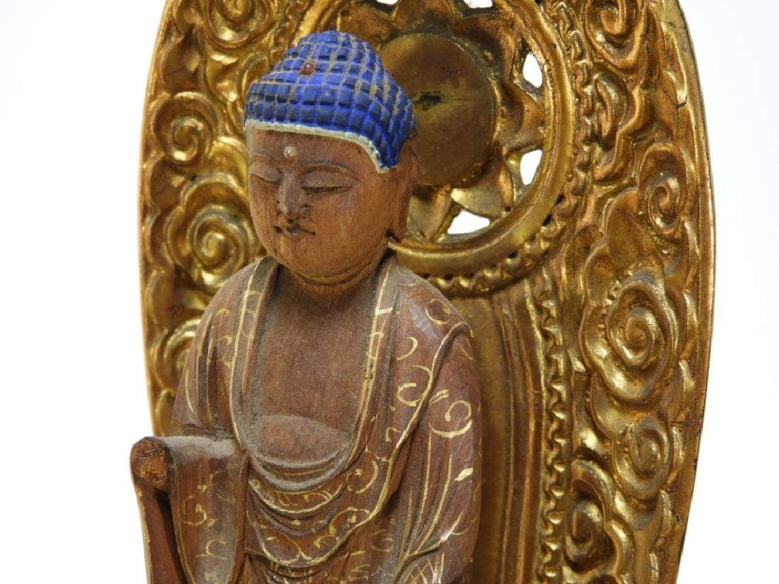Japanese Gilt Wood Standing Bodhisattva Buddha - 5