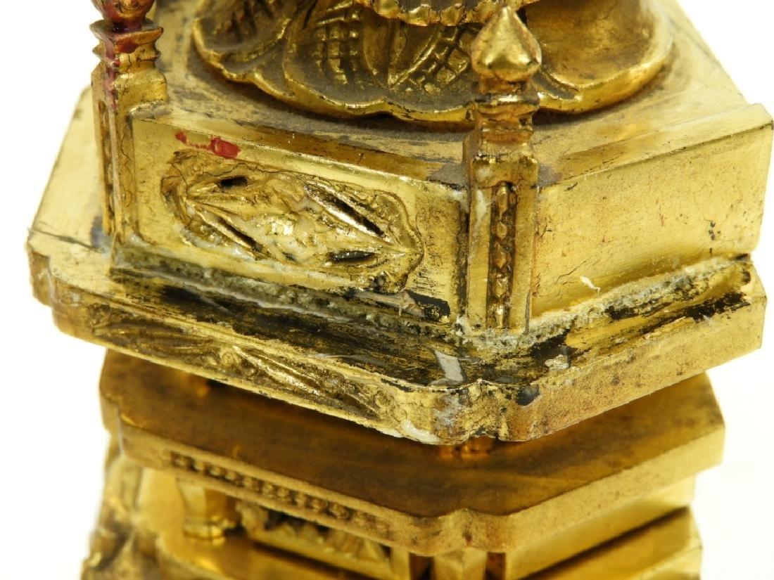 Japanese Gilt Wood Standing Bodhisattva Buddha - 7