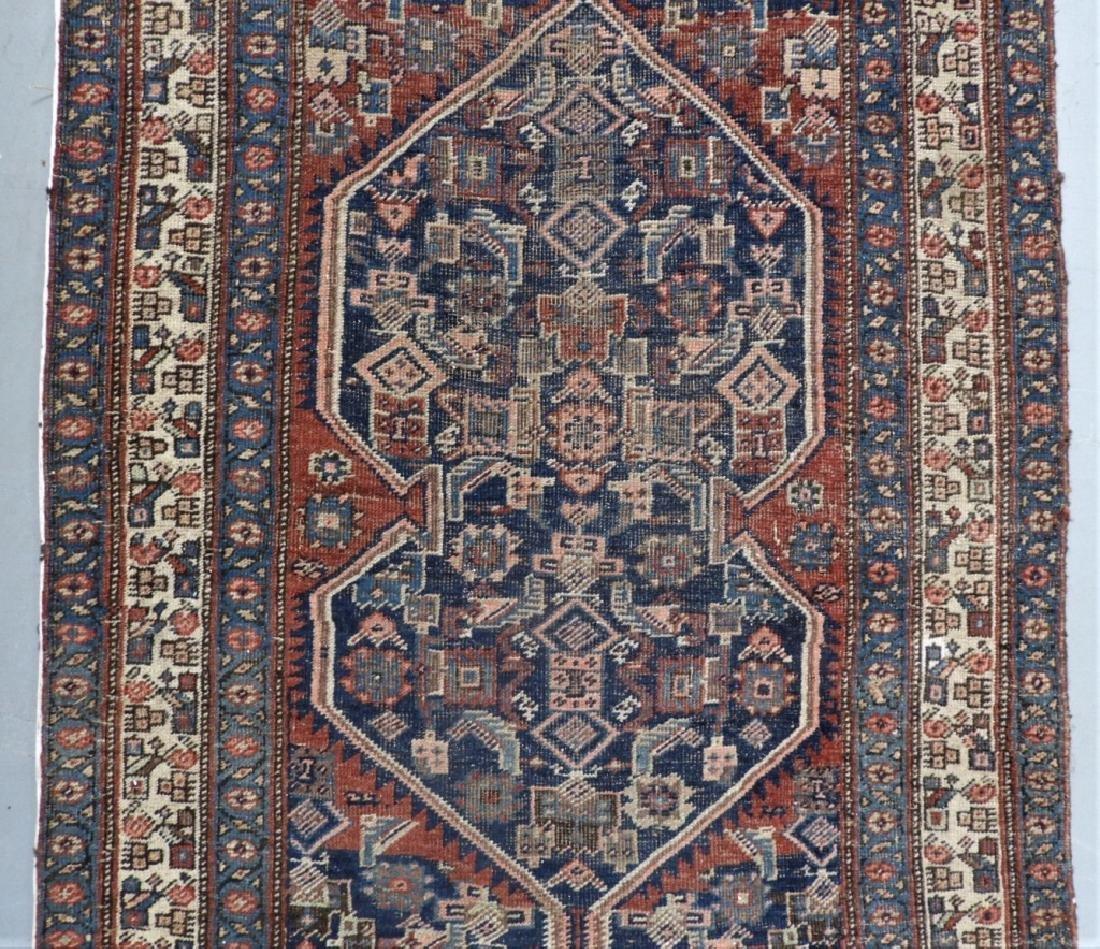 Antique Persian Heriz Wool Carpet Rug Runner - 2