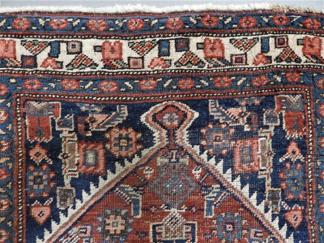 Antique Persian Heriz Wool Carpet Rug Runner - 4