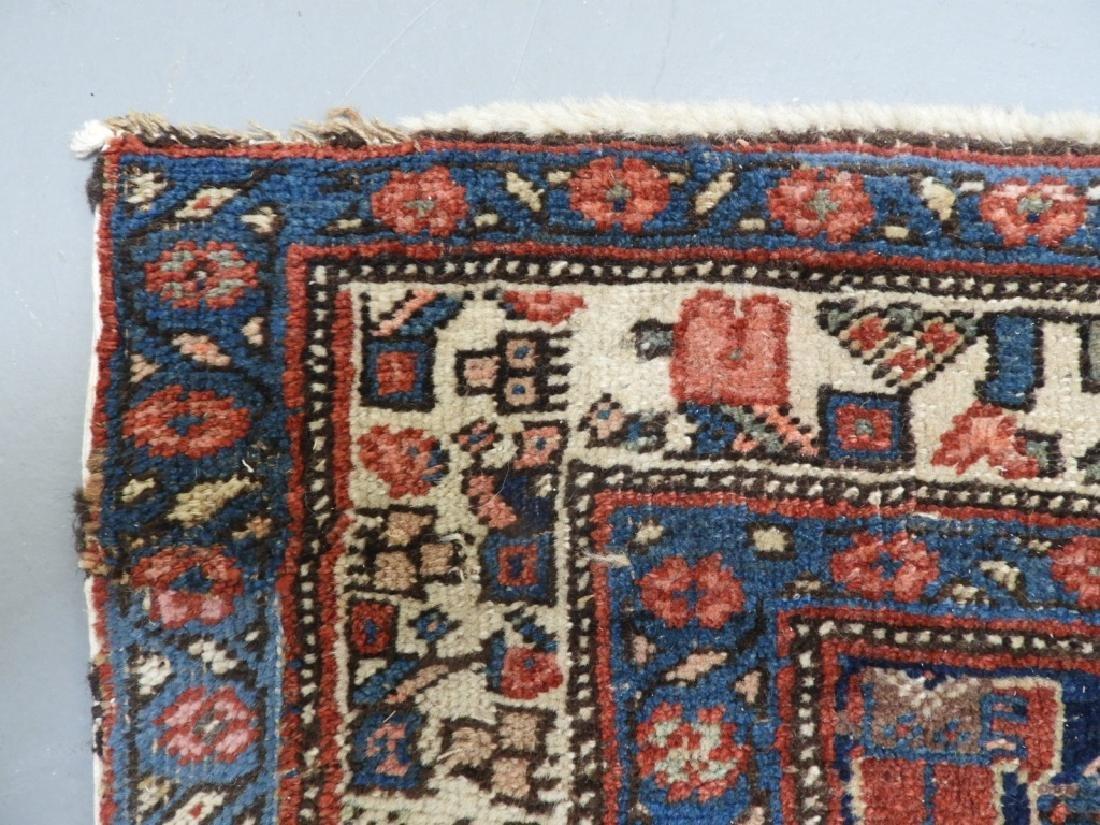 Antique Persian Heriz Wool Carpet Rug Runner - 5