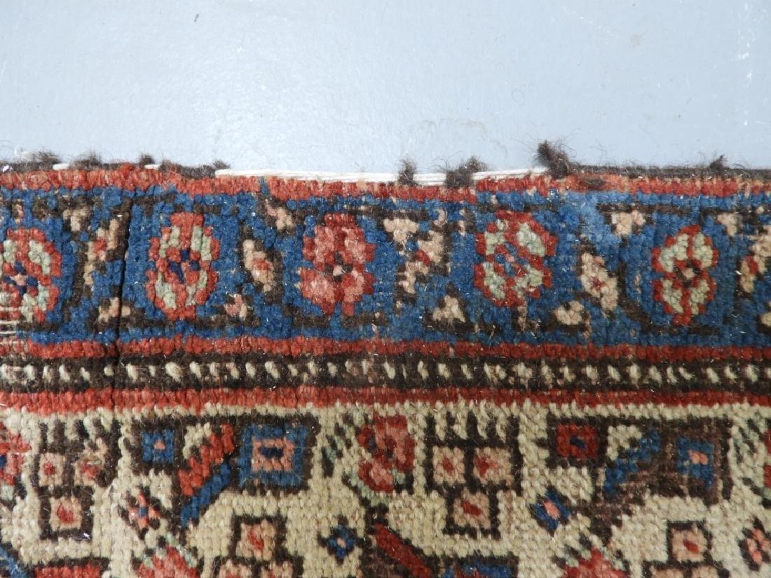 Antique Persian Heriz Wool Carpet Rug Runner - 6
