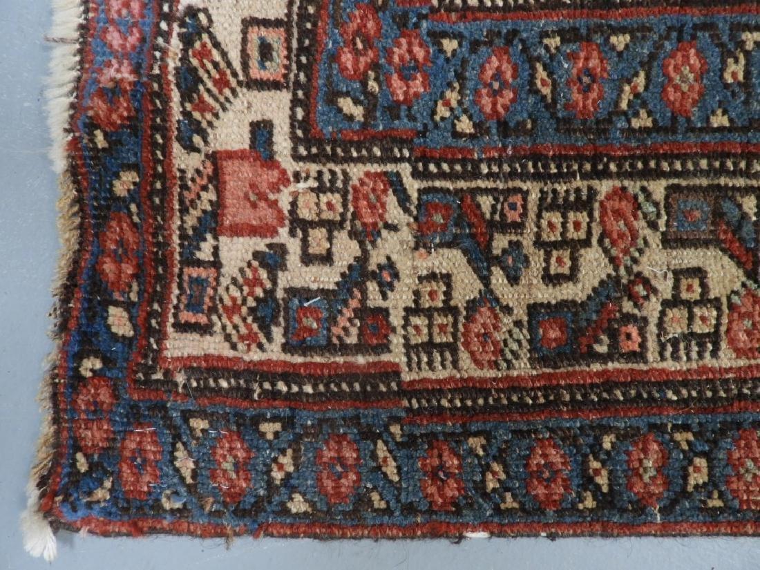 Antique Persian Heriz Wool Carpet Rug Runner - 7