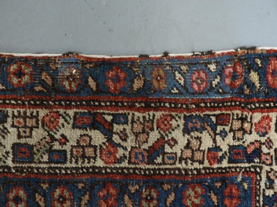 Antique Persian Heriz Wool Carpet Rug Runner - 9