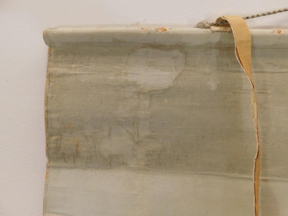Chinese Silk Bird Evergreen Tree Scroll Painting - 8
