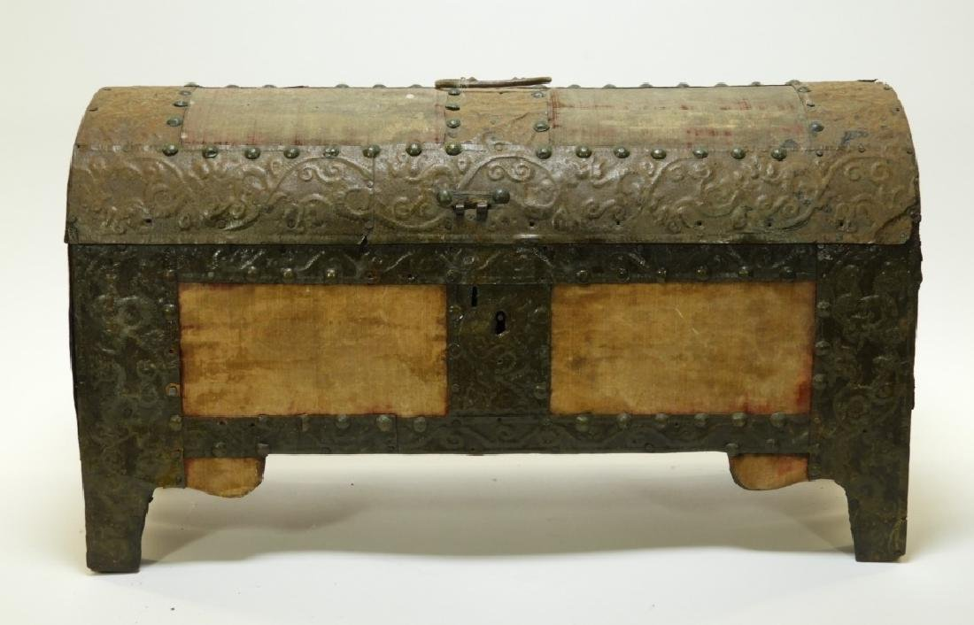 17C. Spanish Colonial Tin Dome Top Casket - 2