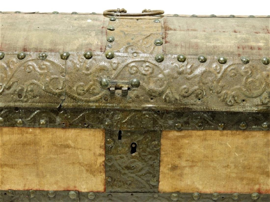 17C. Spanish Colonial Tin Dome Top Casket - 3