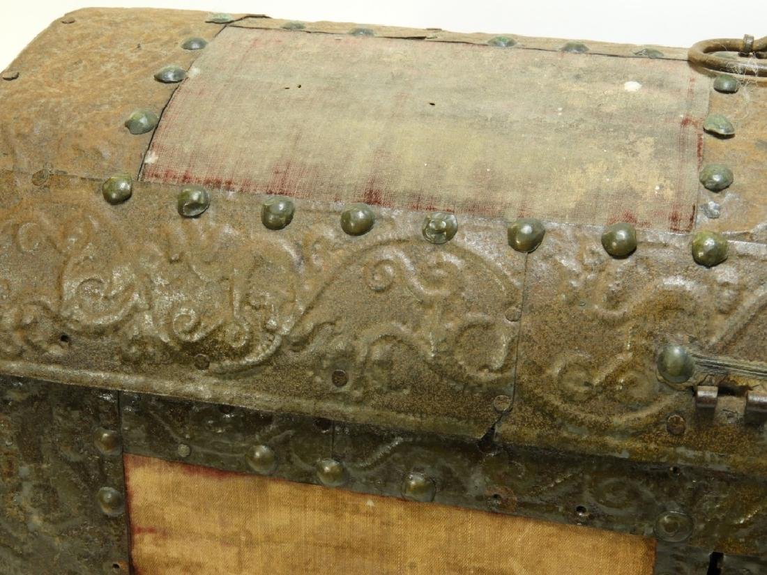 17C. Spanish Colonial Tin Dome Top Casket - 4