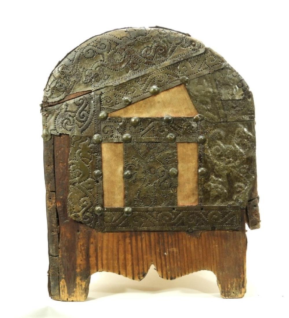17C. Spanish Colonial Tin Dome Top Casket - 5