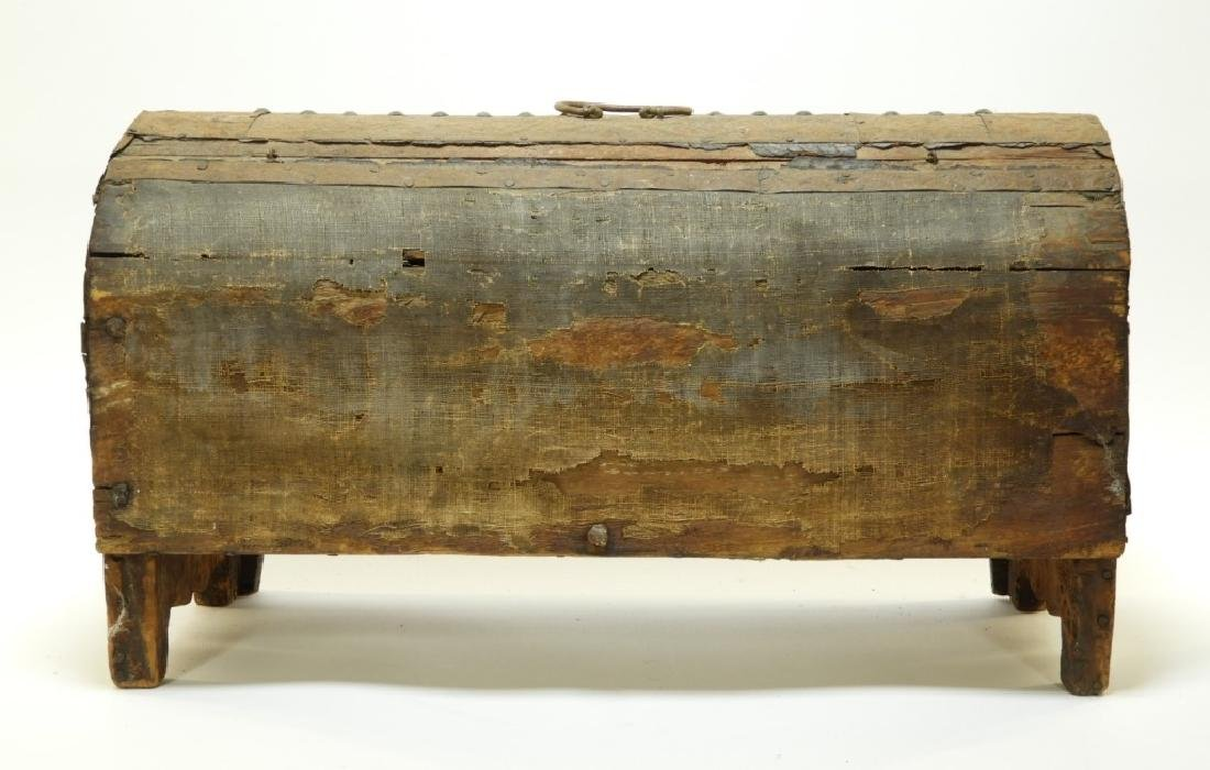 17C. Spanish Colonial Tin Dome Top Casket - 6