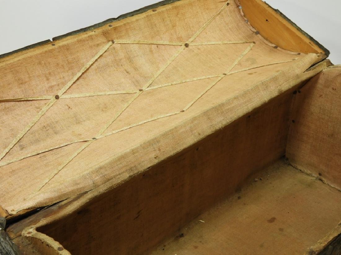 17C. Spanish Colonial Tin Dome Top Casket - 8
