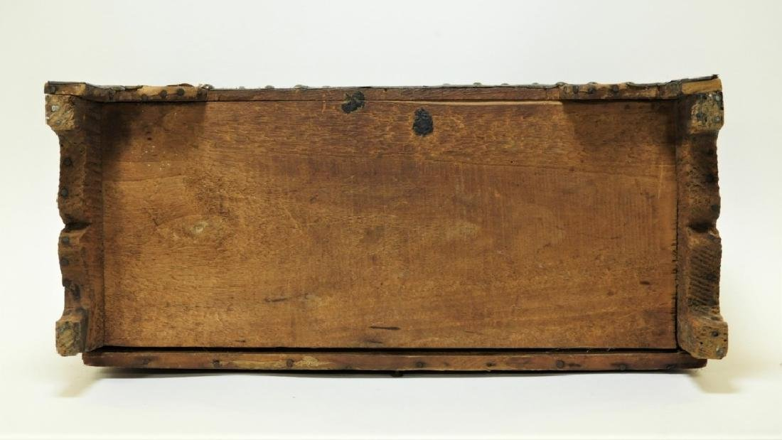 17C. Spanish Colonial Tin Dome Top Casket - 9