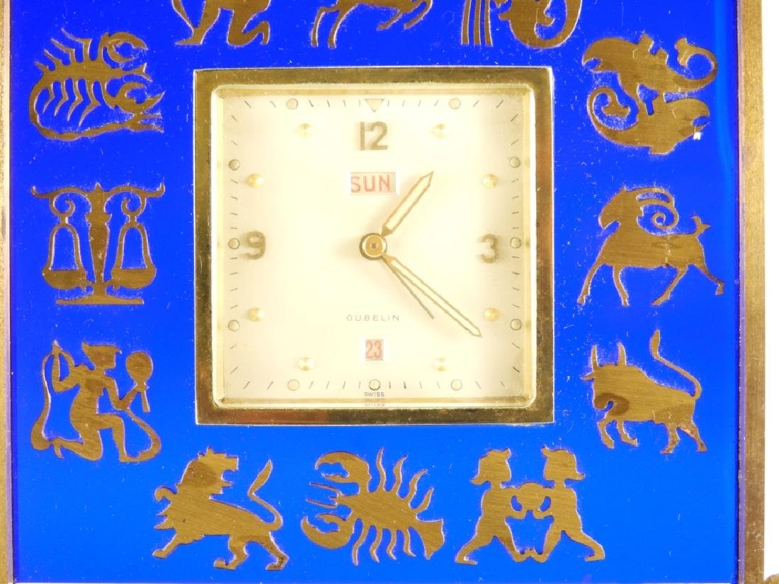 Gubelin Swiss 8 Day Zodiac Cobalt Desk Clock - 2