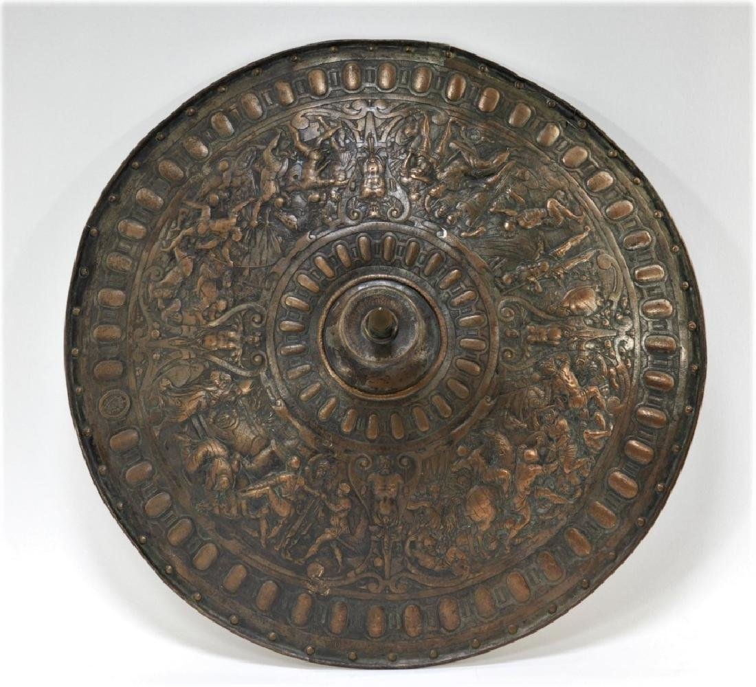 19C. Renaissance Revival Copper Parade Shield
