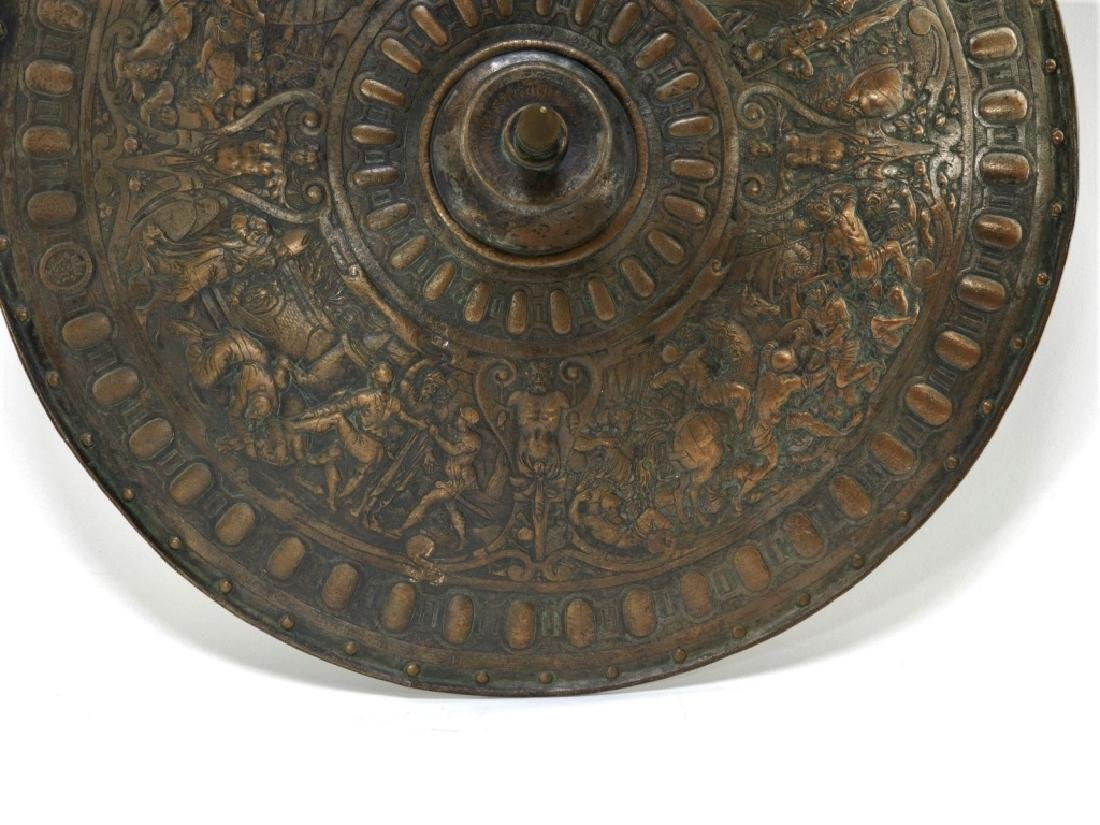 19C. Renaissance Revival Copper Parade Shield - 2