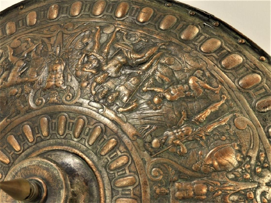 19C. Renaissance Revival Copper Parade Shield - 4