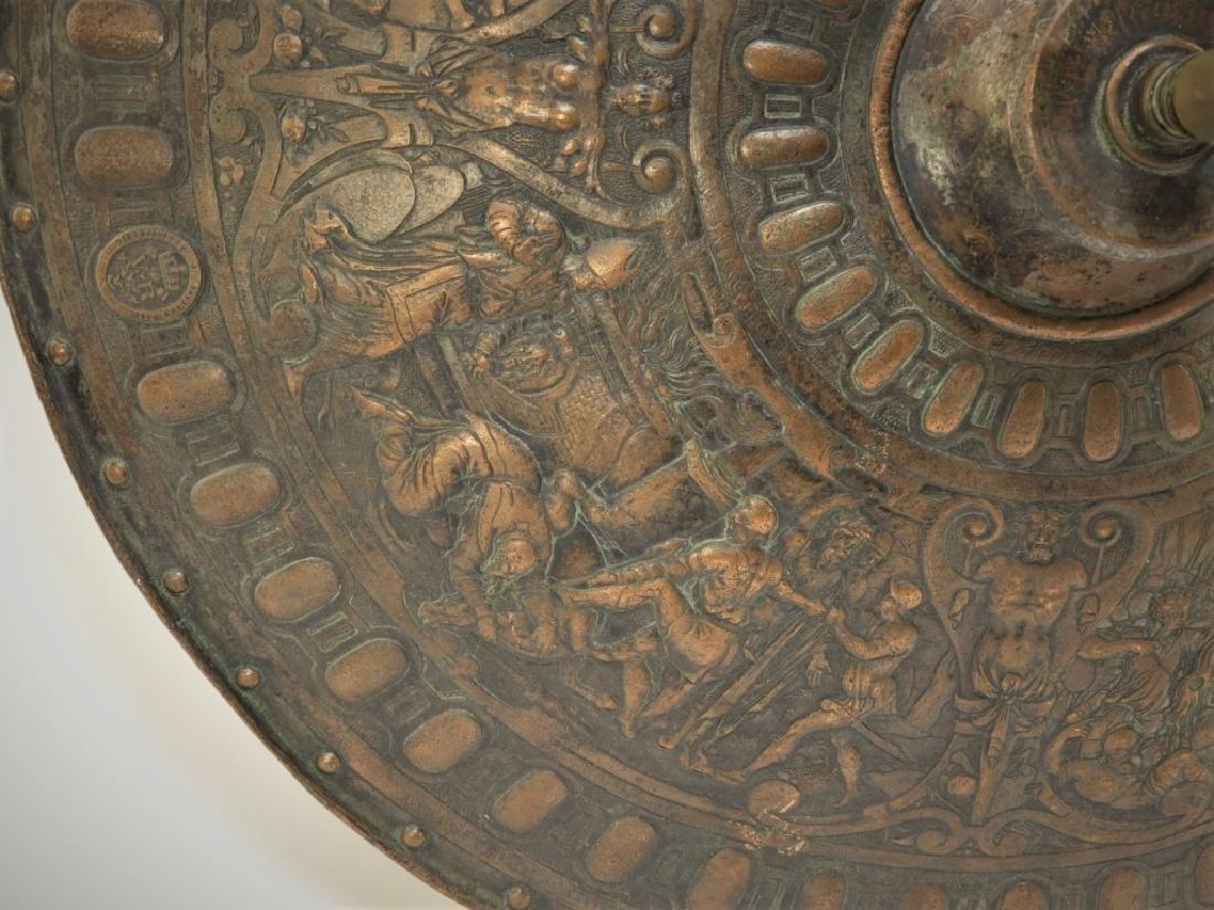 19C. Renaissance Revival Copper Parade Shield - 5