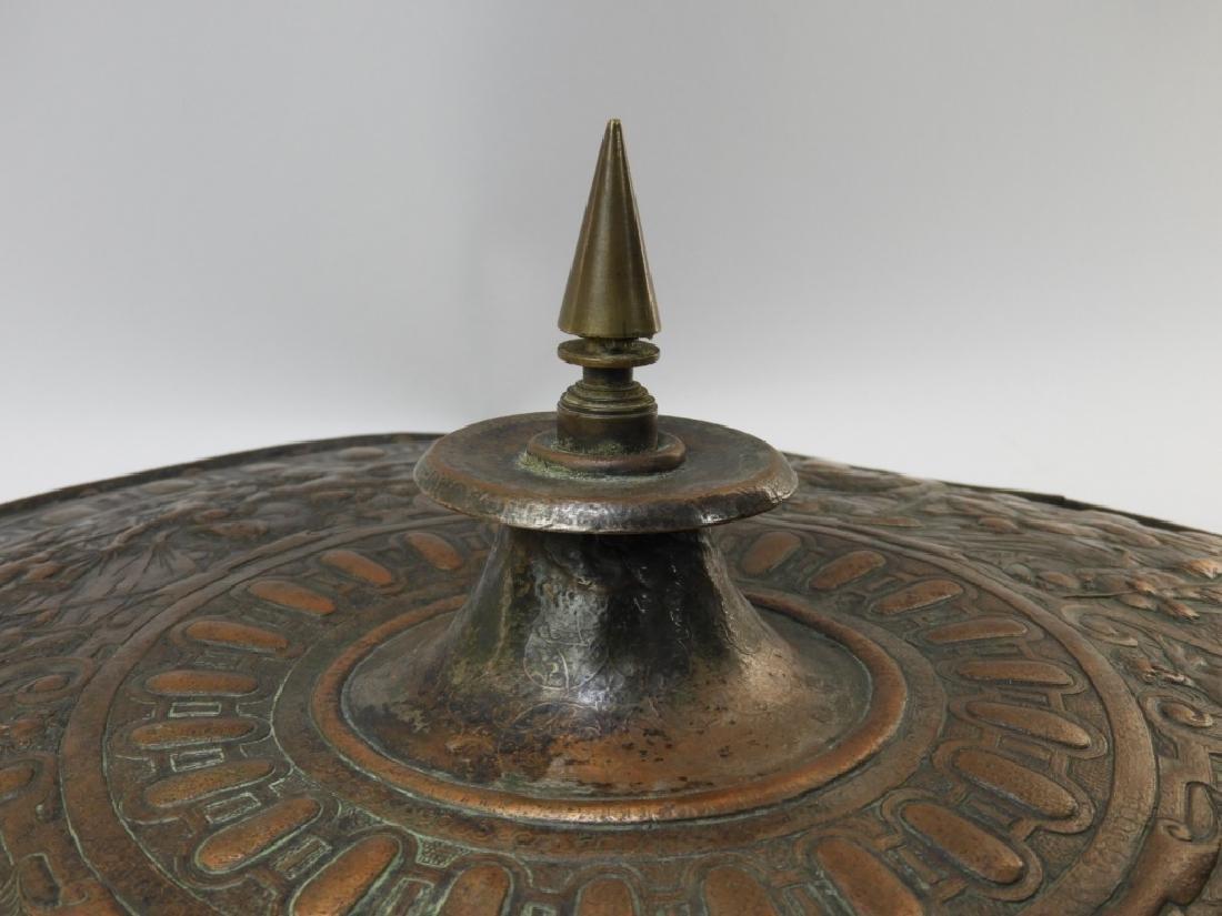19C. Renaissance Revival Copper Parade Shield - 7