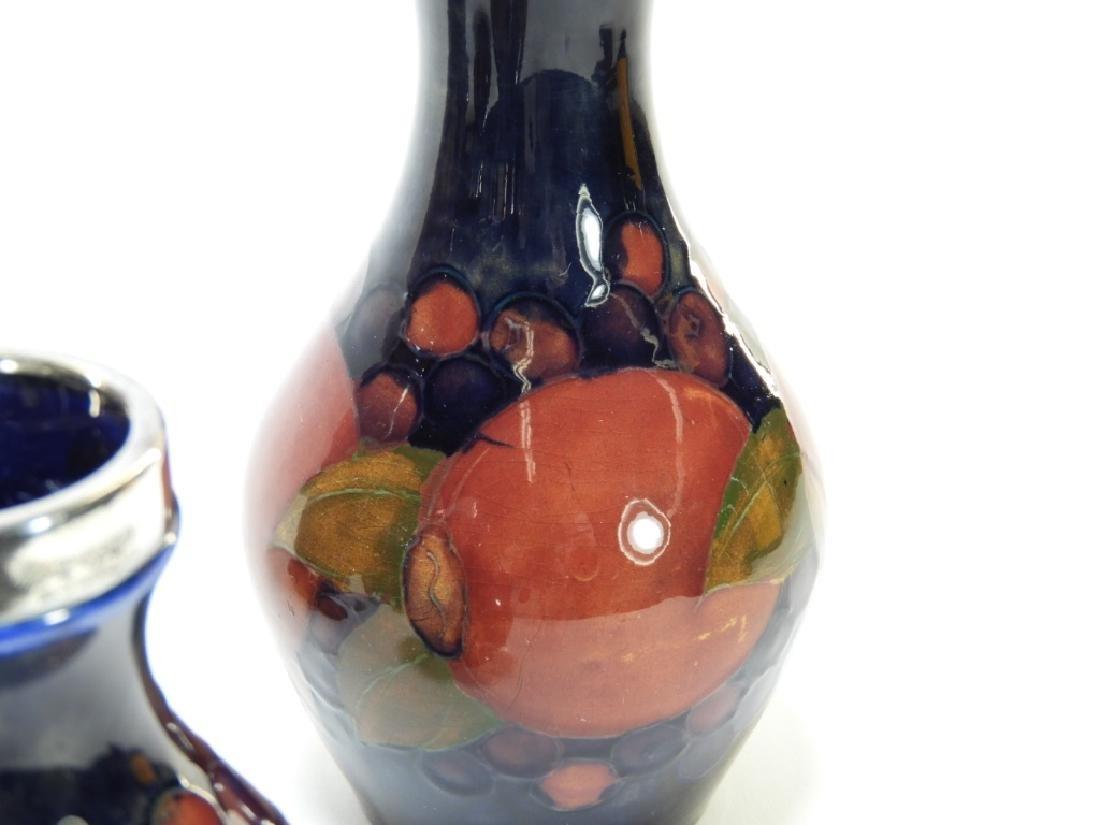 5 Moorcroft Pottery Pomegranate Pattern Vases - 5