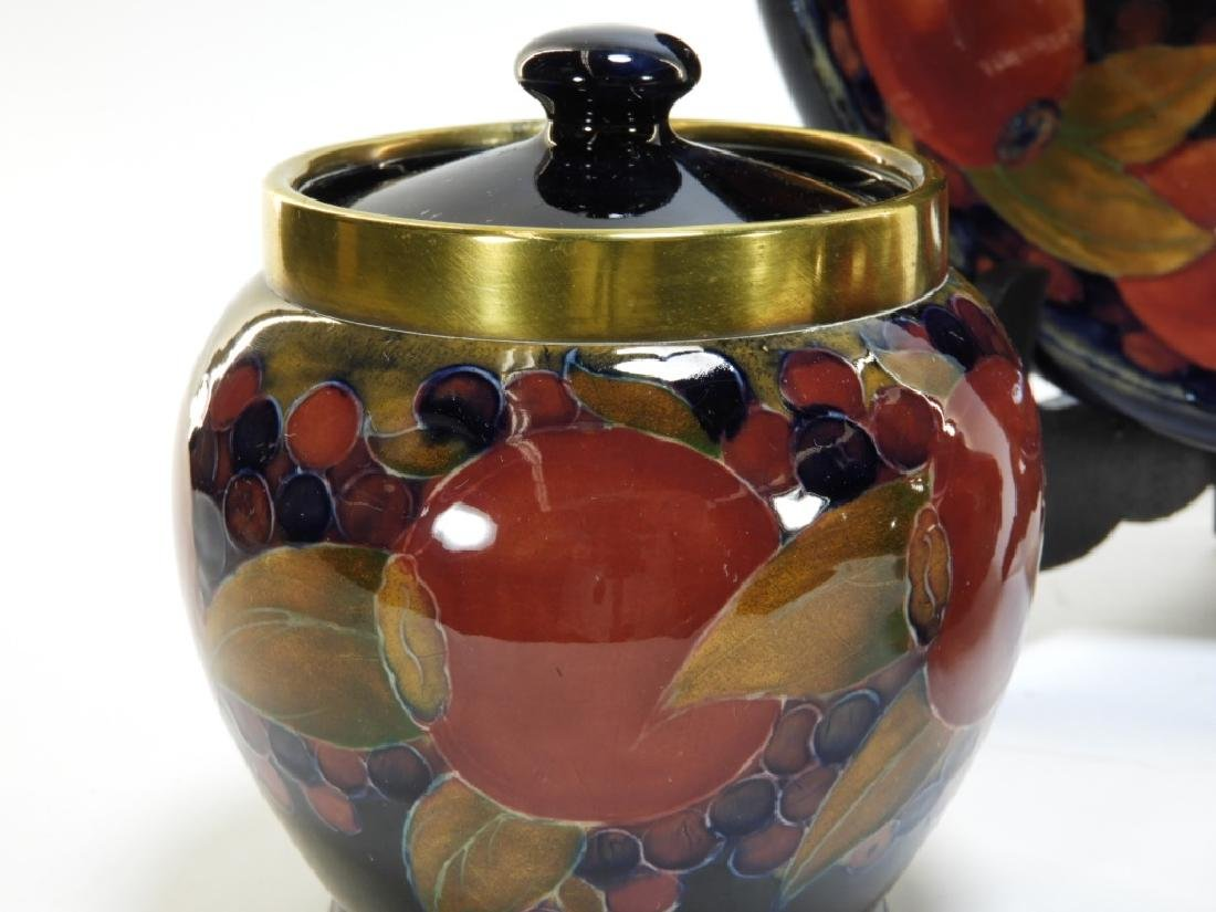 3 Moorcroft Pottery Pomegranate Pattern Bowls Jar - 3