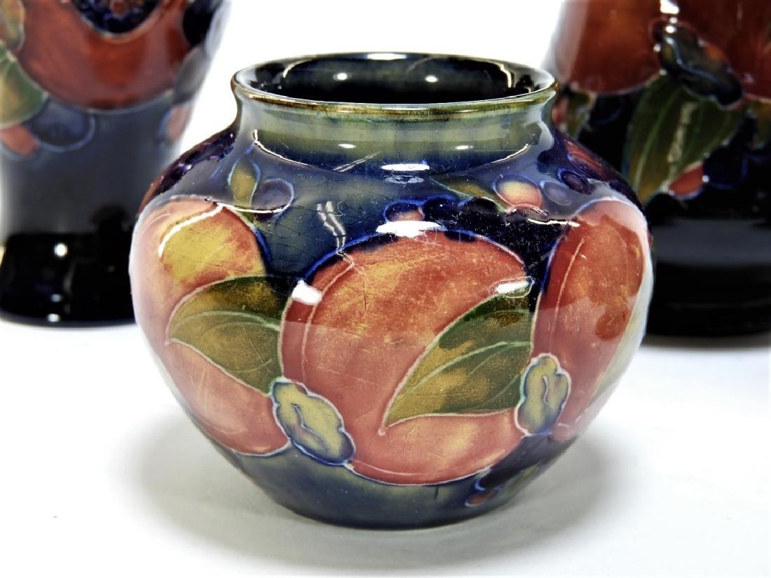 6 Moorcroft Pottery Pomegranate Pattern Vases - 3