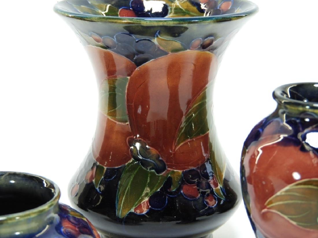 6 Moorcroft Pottery Pomegranate Pattern Vases - 4