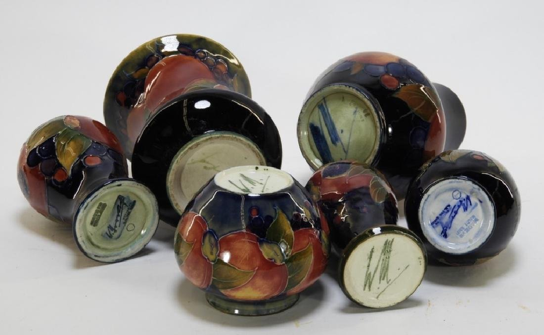 6 Moorcroft Pottery Pomegranate Pattern Vases - 8