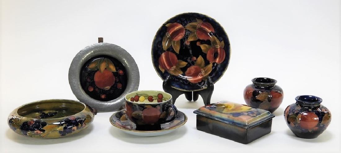 8 Moorcroft Pottery Pomegranate Pattern Vases Box