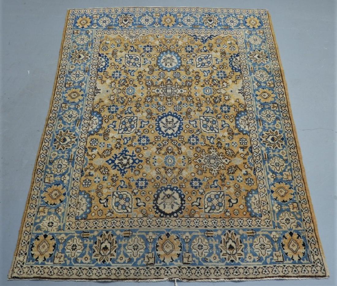 Oriental Persian Tabriz Maize Wool Carpet Rug
