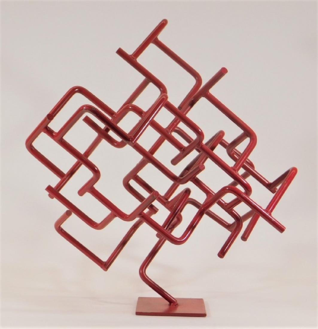 American MCM Abstract Bent Iron Sculpture