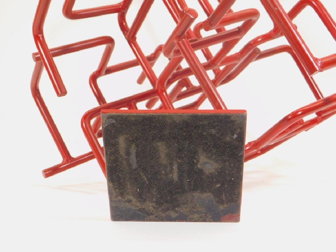 American MCM Abstract Bent Iron Sculpture - 4