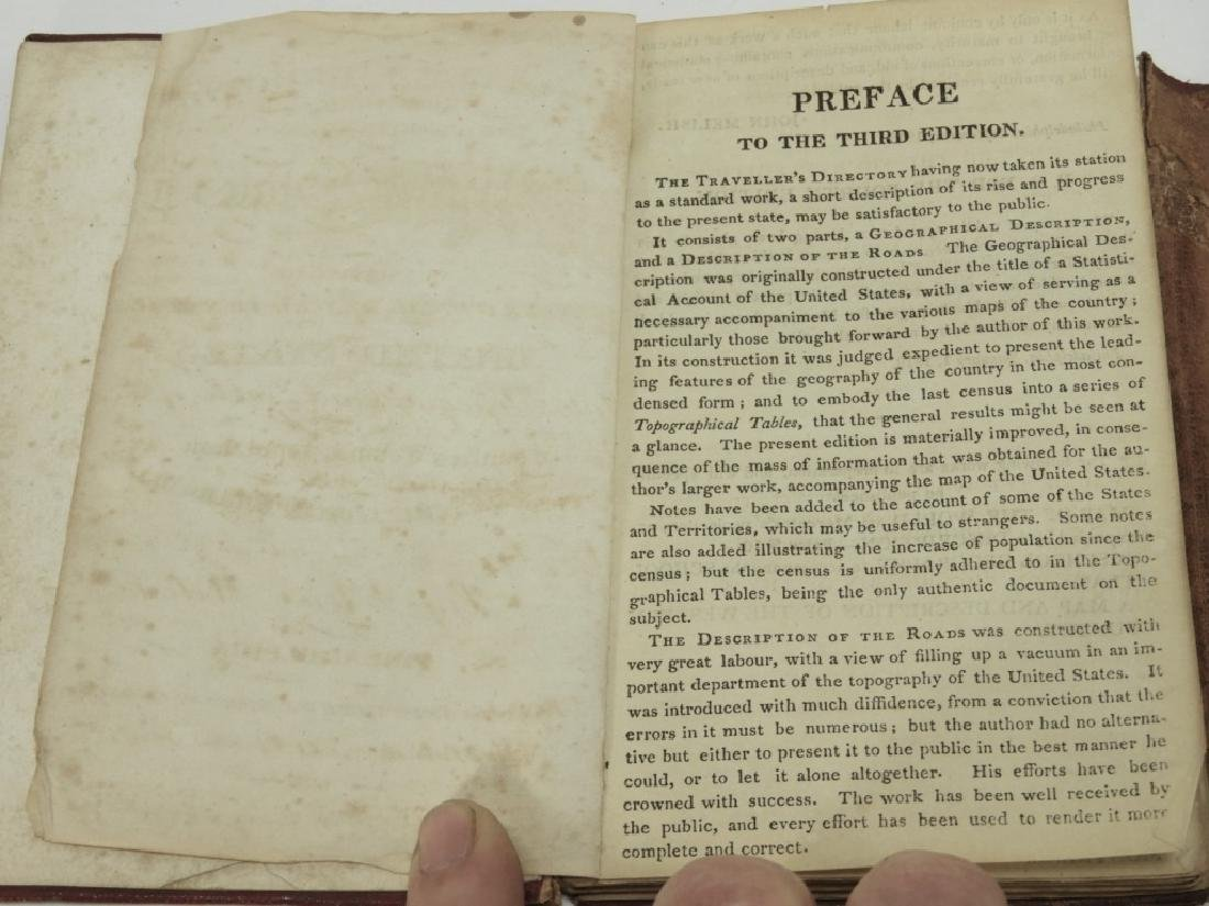 C.1818 John Melish Travelers Directory Map Book - 5