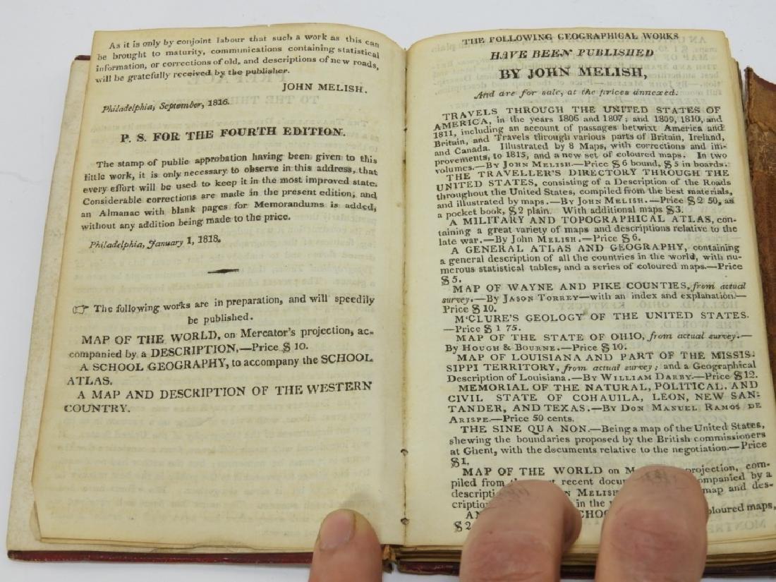 C.1818 John Melish Travelers Directory Map Book - 6