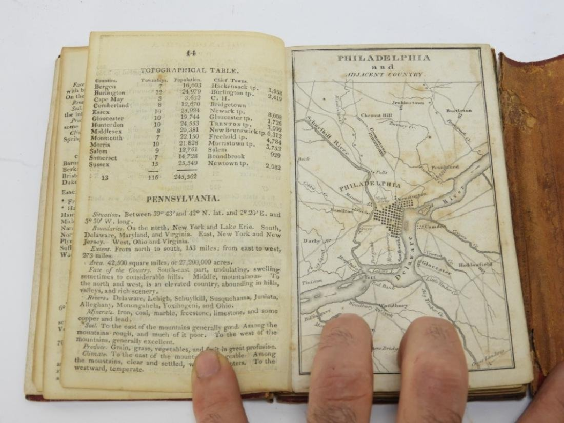 C.1818 John Melish Travelers Directory Map Book - 9