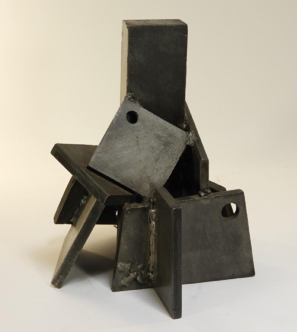 Arthur Kern MCM House of Cards Steel Sculpture