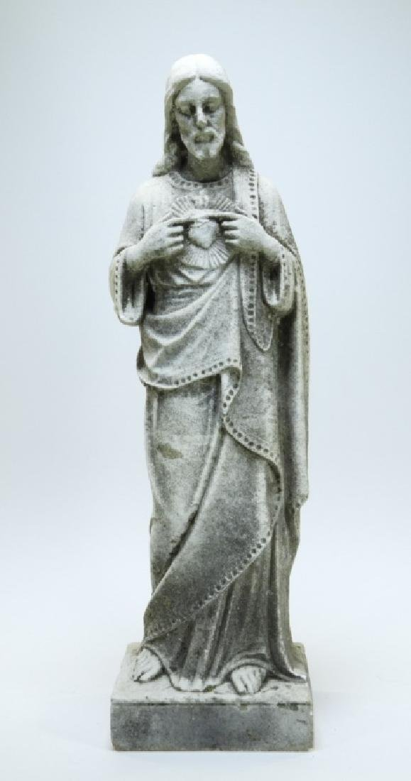 19C. Italian Carved White Marble Christ Sculpture