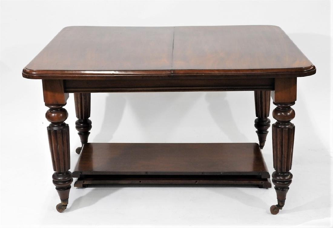 C.1860 Carved Mahogany Dining Library Table