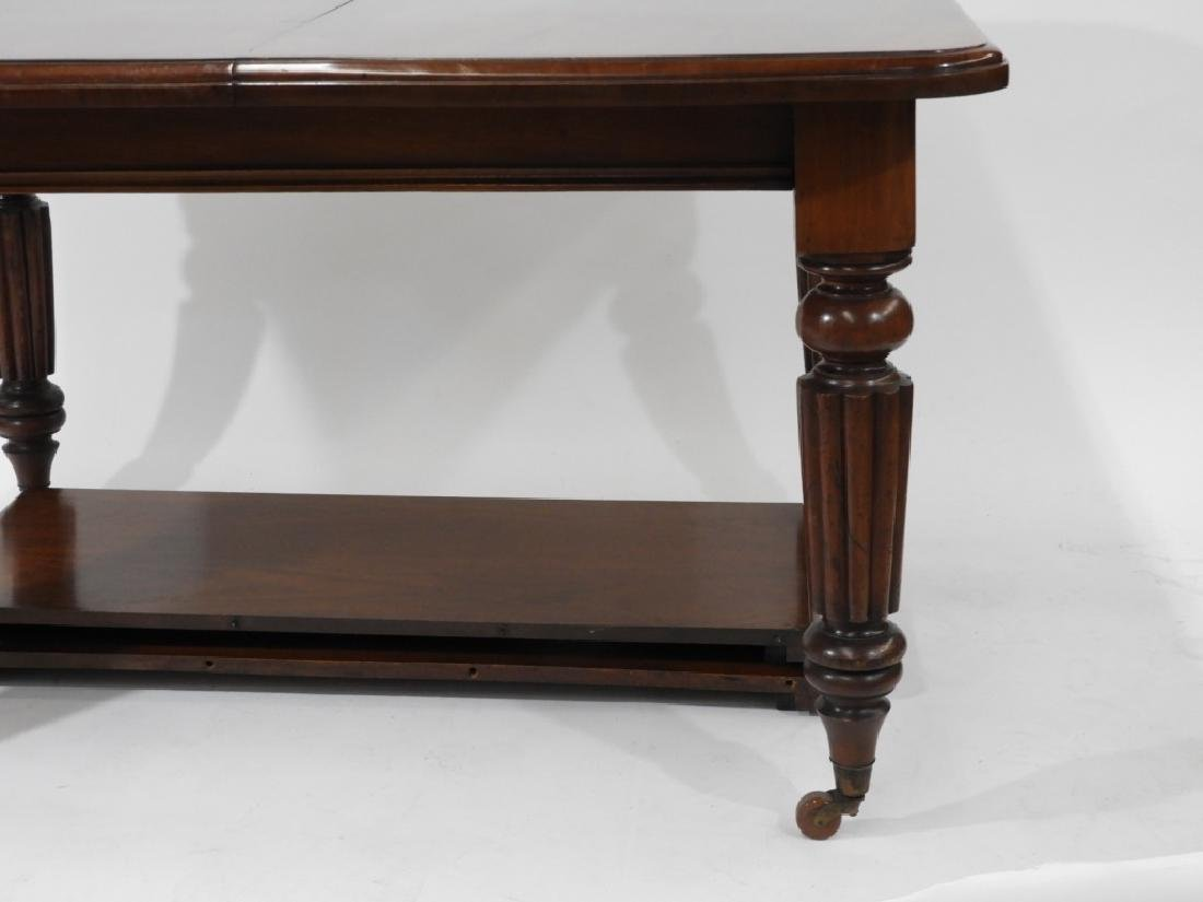 C.1860 Carved Mahogany Dining Library Table - 2