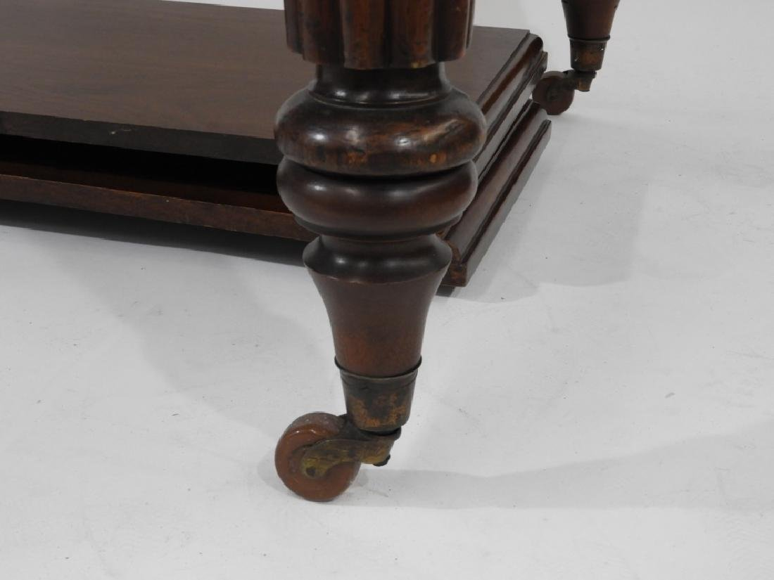C.1860 Carved Mahogany Dining Library Table - 4