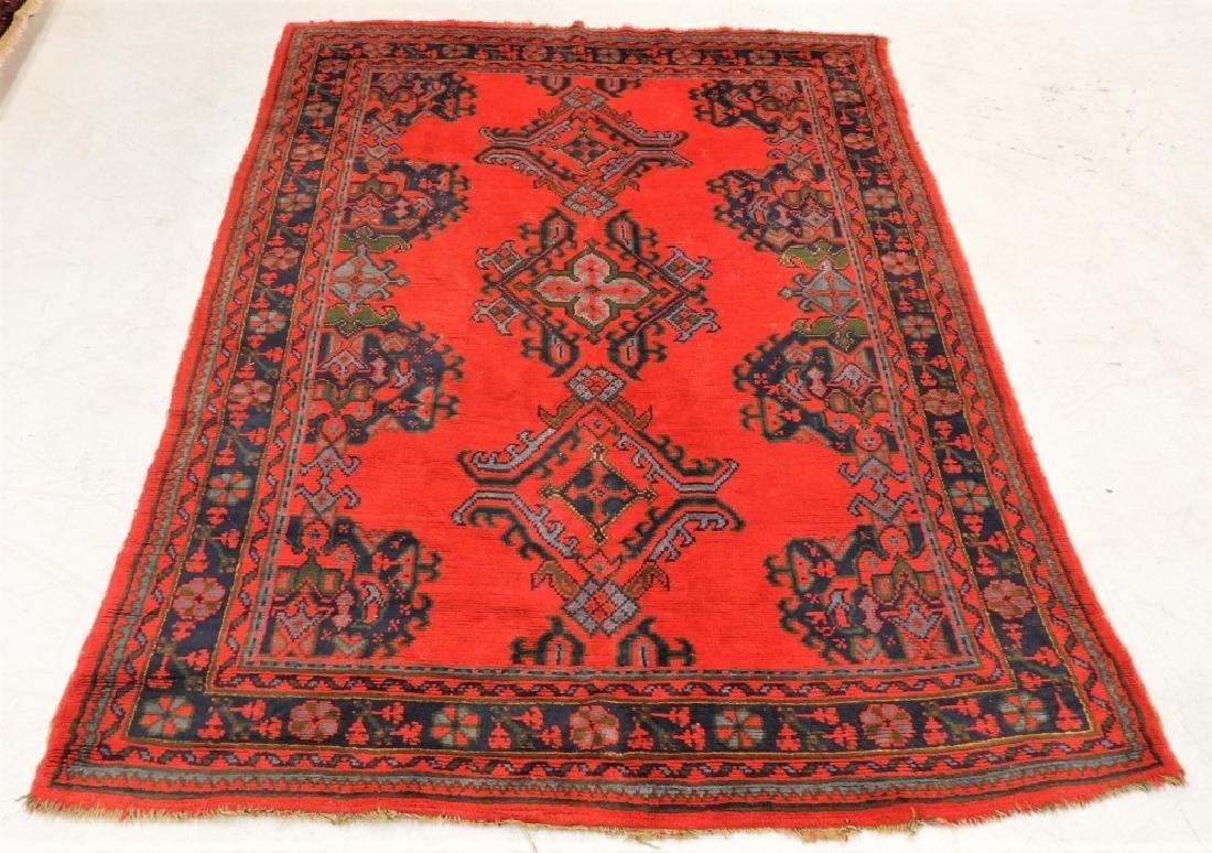 Oriental Turkish Oushak Wool Carpet Rug