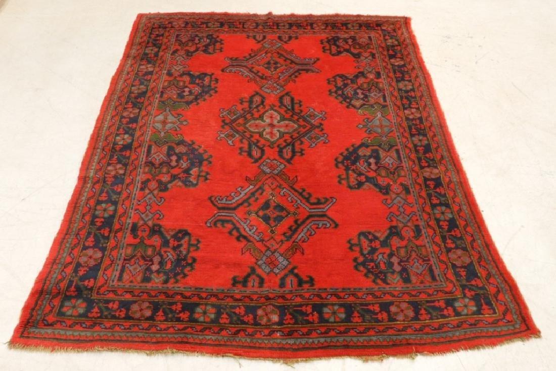 Oriental Turkish Oushak Wool Carpet Rug - 2