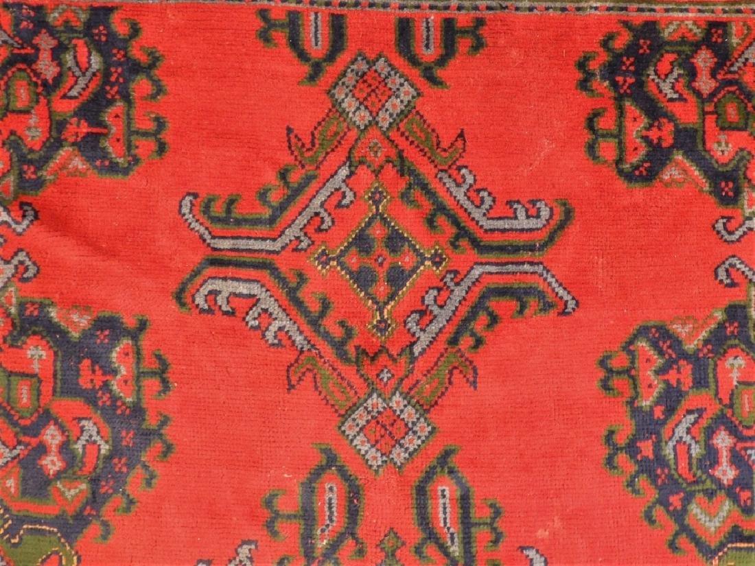 Oriental Turkish Oushak Wool Carpet Rug - 4