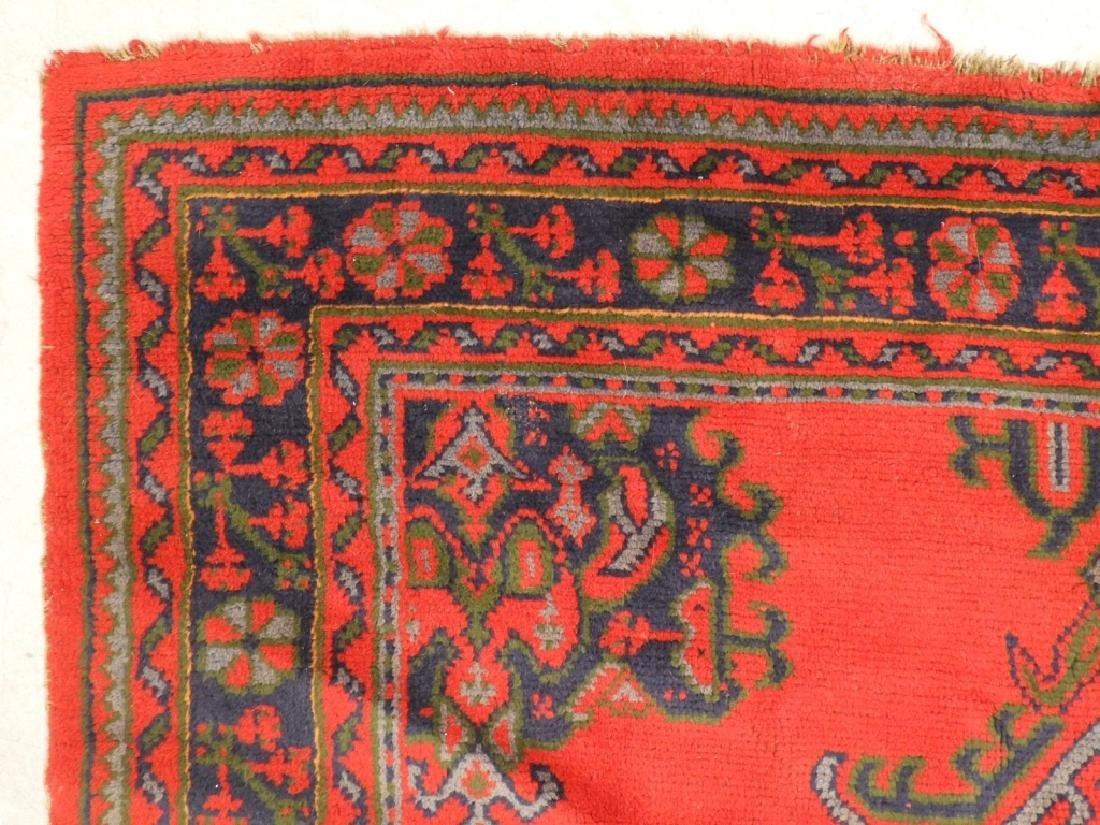 Oriental Turkish Oushak Wool Carpet Rug - 5