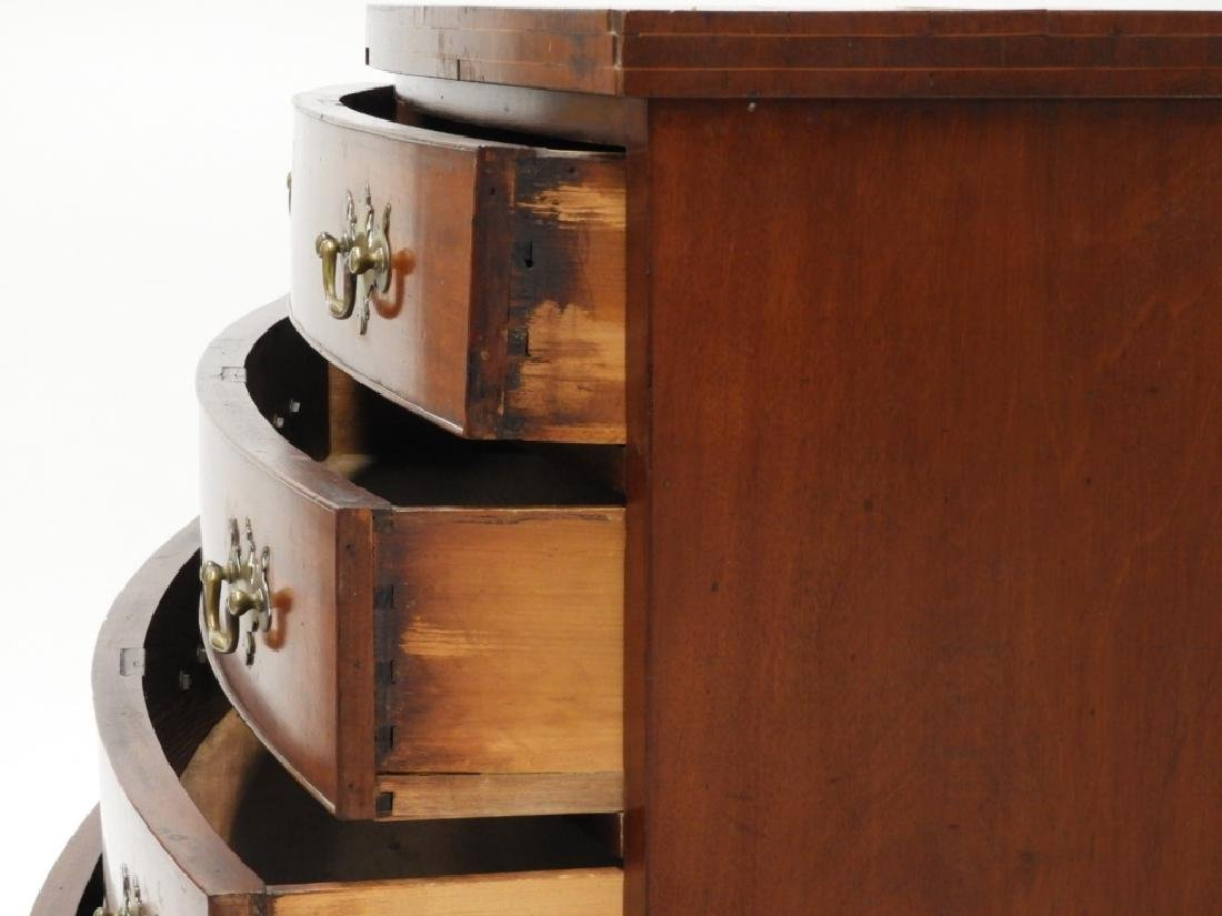 Massachusetts Federal Mahogany Bow Front Chest - 7