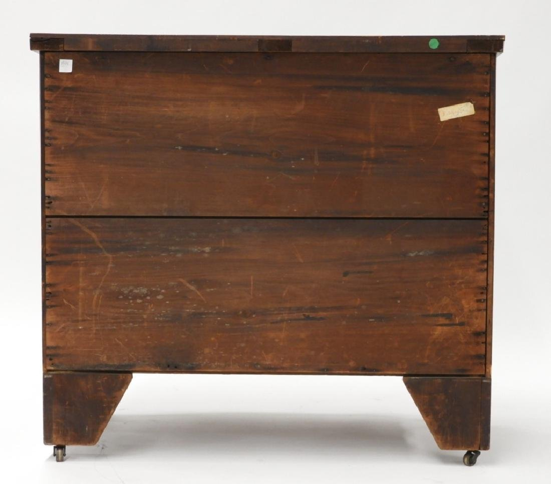 Massachusetts Federal Mahogany Bow Front Chest - 9